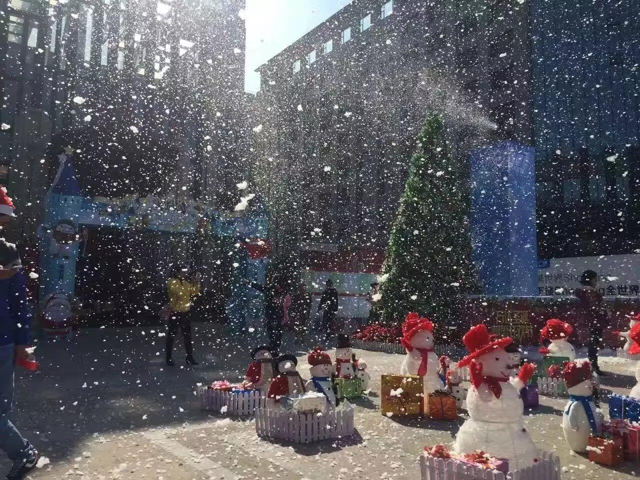 深圳创意圣诞雪花机租赁舞台造雪机