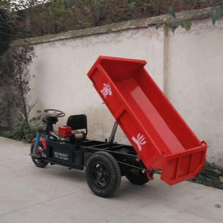 新款三轮电动液压自卸车 可自动升降倾倒方便矿用运输车省时省力图片