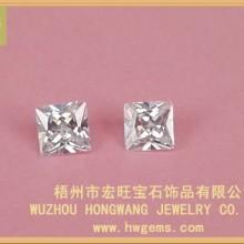 白色正方形锆石 首饰饰品配件   梧州宏旺宝石厂家大量批发供应