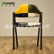 卡航家具A字椅金属椅皮座西餐厅椅图片