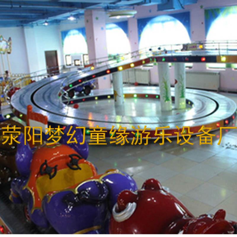 荥阳梦幻童缘2016新款迷你穿梭10车组合现货热销室内外游乐设备儿童爬山车