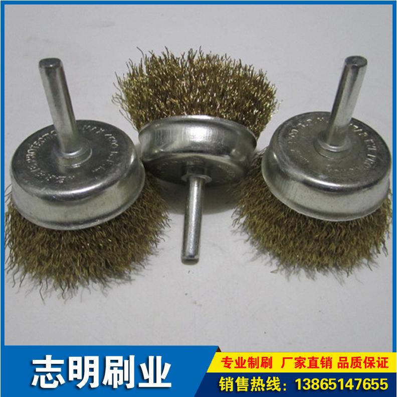 本厂生产 抛光耐磨磨料丝轮 工业钢丝轮 带柄钢丝轮 品质保证