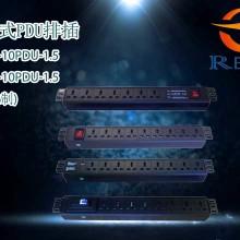 欧乐PDU机柜插座8位 10A新国标开关防雷PC 工业机柜专用电源排插图片