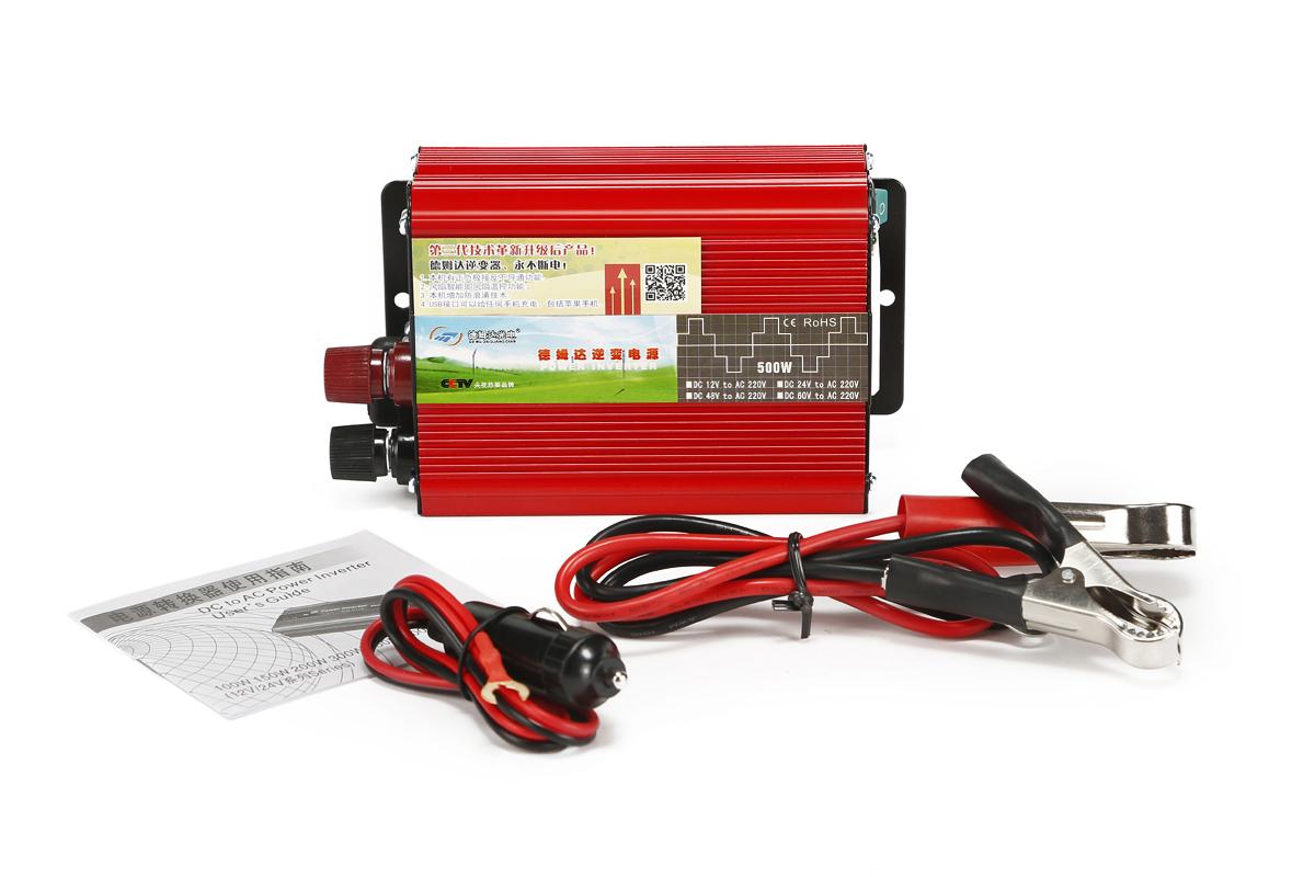 德姆达逆变器厂家 批发12V转220V 500W逆变器 三代带反接温控500W车载逆变器 电源转换器