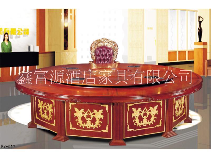 豪华电动餐桌--实木电动餐桌图片