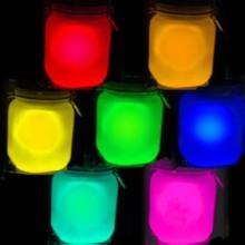 马赛克玻璃烛台专用夜光粉玻璃方形烛台专用夜光粉高温高亮夜光粉