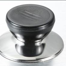 厂家直销 锅盖把手 锅耳 电木手柄 不锈钢顶珠 锅盖钮电木锅把