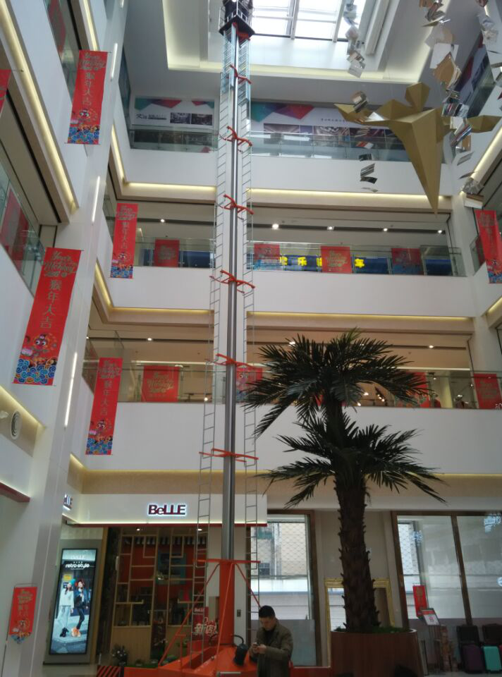 厂家量身定制 启运牌套缸式升降机6米至30米双梯防转式高空工作台定制液压升降机 套缸式升降台