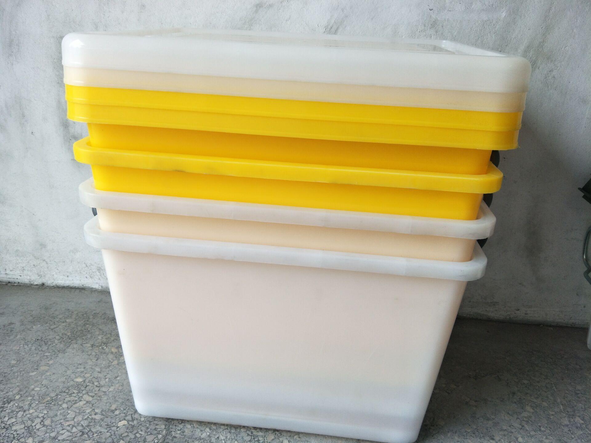 广东塑料收纳箱 塑胶储物箱价格  厂家直销加厚收纳箱 带轮子塑料衣物整理箱