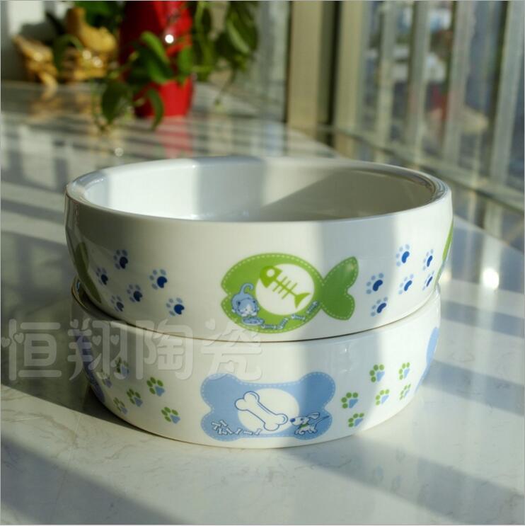 现货供应狗狗食具用品 陶瓷狗食盆价格 猫碗宠物用品批发零售