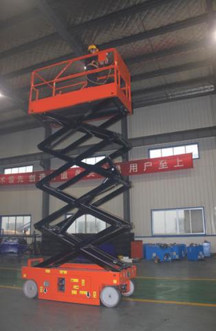 启运促销QYJCS 新款升降机电动升降平台移动式高空维修手动液压剪叉8米升降平台