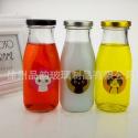 厂家直销300ml马口铁盖星巴克玻璃奶瓶无铅耐高温饮料玻璃瓶