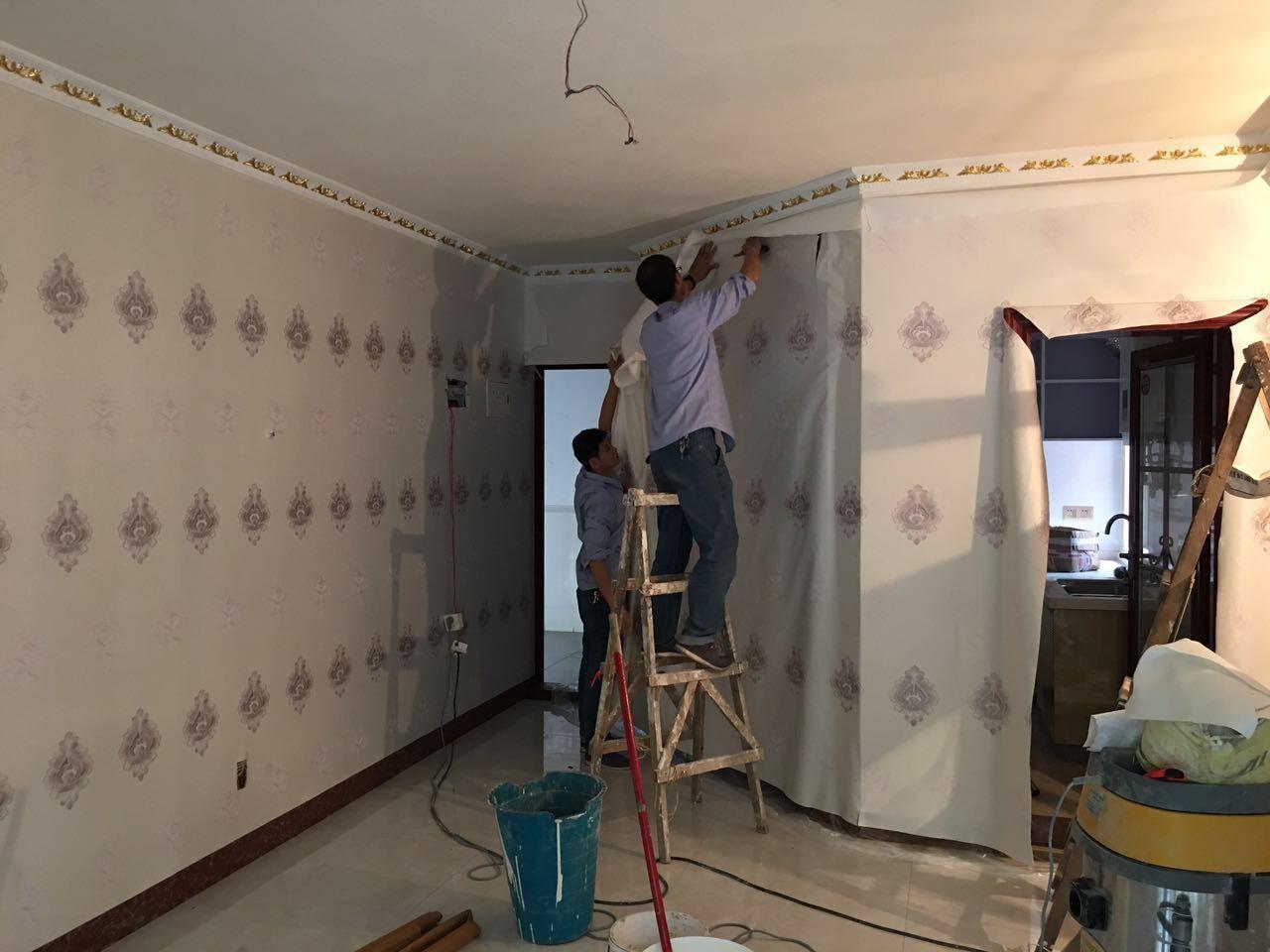 墙纸施工 王虎铺装墙纸施工  室内装修公司
