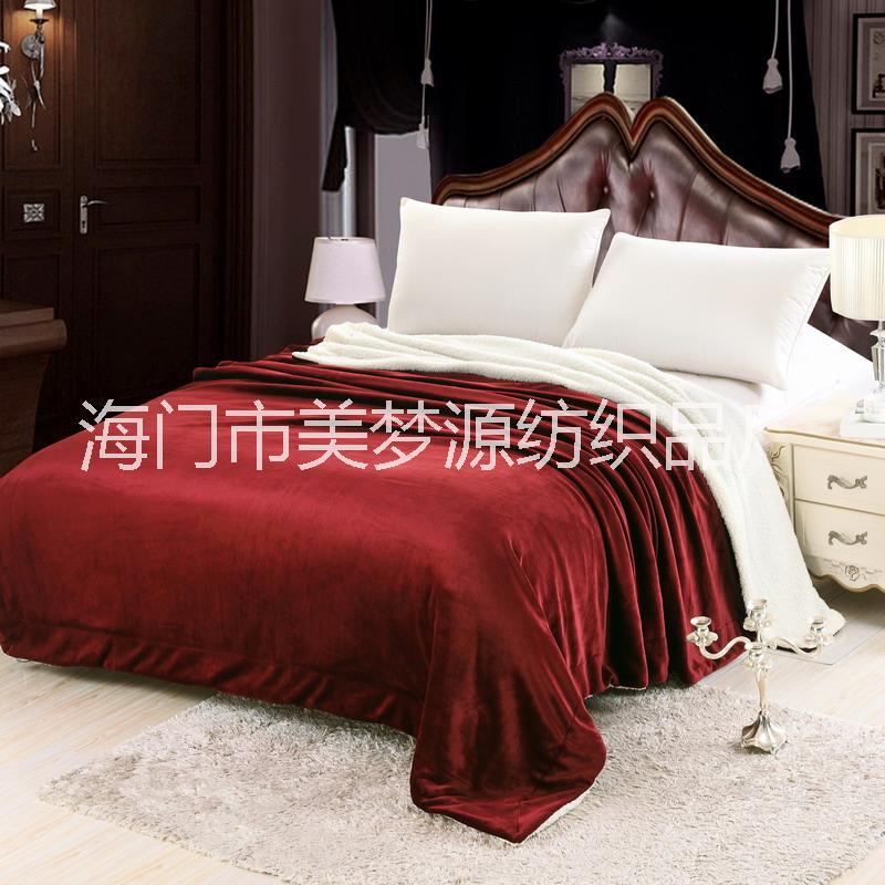 羊羔绒法莱绒毛毯 懒人毯 汽车沙发盖毯 午休毯