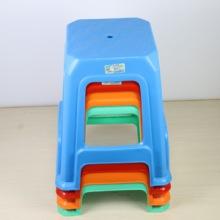 时尚客厅休闲家用塑料高凳子椅子 成人加厚防滑板凳 简约餐桌方凳