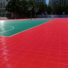 红色室外地板价格 锁扣运动地胶颜色 甘肃室外篮球地板 室外组合地板