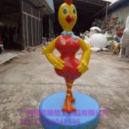 玻璃钢贺年卡通生肖鸡雕塑图片
