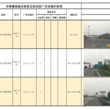 河南高速公路广告牌广告独家代理批发