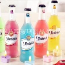 厂家生产订做 透明RIO鸡尾酒瓶蒙砂玻璃酒瓶275ml 饮料汽水瓶批发