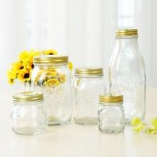 厂家直供300毫升170毫升 雕花密封玻璃瓶蜂蜜瓶玻璃包装容器批发