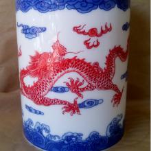 景德镇厂家直销陶瓷青花笔筒陶瓷青花笔筒生产加工批发