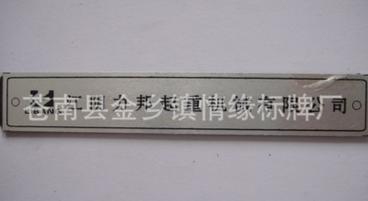 厂家定做 门业logo标牌 电铸标牌