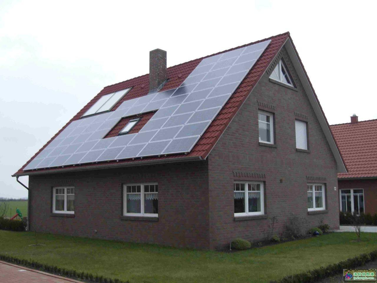 安装别墅屋顶太阳能光伏发电系统