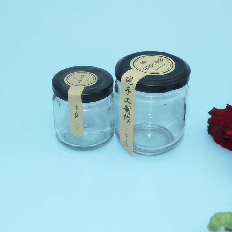 厂家直销马口铁盖195ml/350mll酱菜瓶密封玻璃瓶罐头瓶