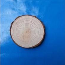 供应优质松木片椭圆形木片圆形木片天然原木工艺原料木头切片批发