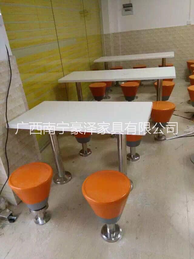 玻璃钢面板快餐桌