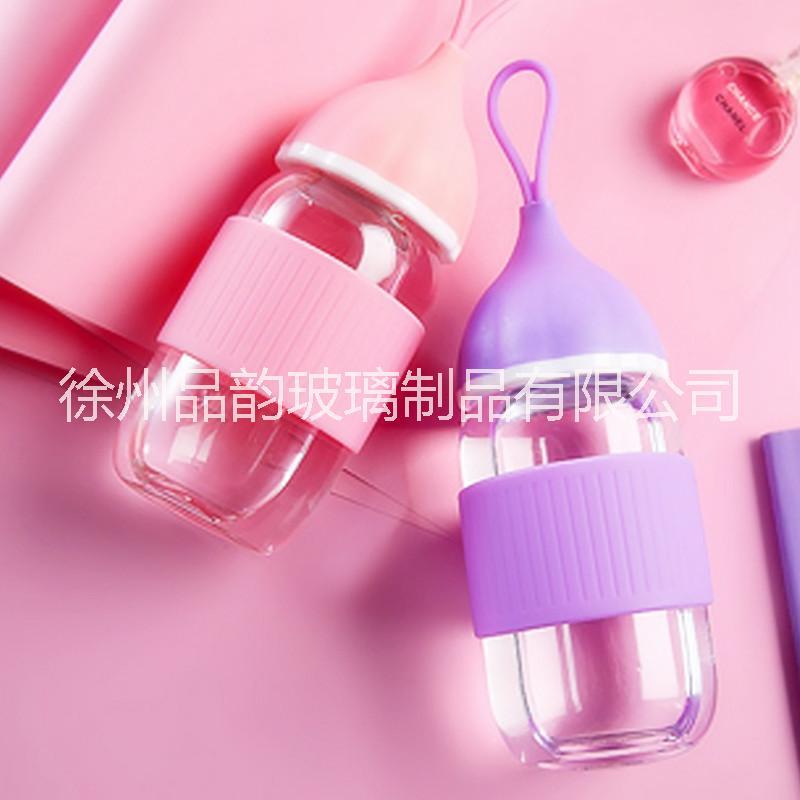 厂家直销小艾杯玻璃杯礼品定制广告促销水杯花茶随手杯定制LOGO