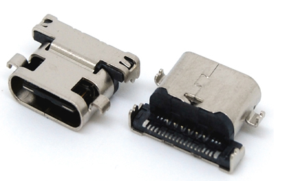 TC-003  TYPE C FEMALE 沉板式,板到中心0.3mm SHORT CONNECTOR