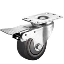 3-5寸中型人造胶ER刹车脚轮