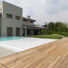 全自动游泳池覆盖系统博睿游泳池覆盖系统专业游泳池覆盖系统厂家直销专业定制SPA盖自动硬质板条盖图片