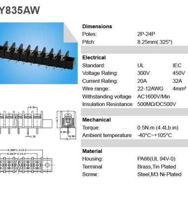 栅栏式电源接线端子图片/栅栏式电源接线端子样板图 (3)