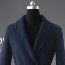 秋冬欧美新款高档双面呢带腰带修身羊绒大衣纯色中长款女士风衣女图片