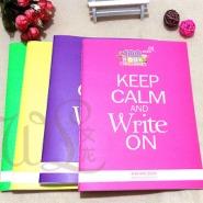 笔记本定制韩国文具荧光色笔记本商务办公用品学习用品订做
