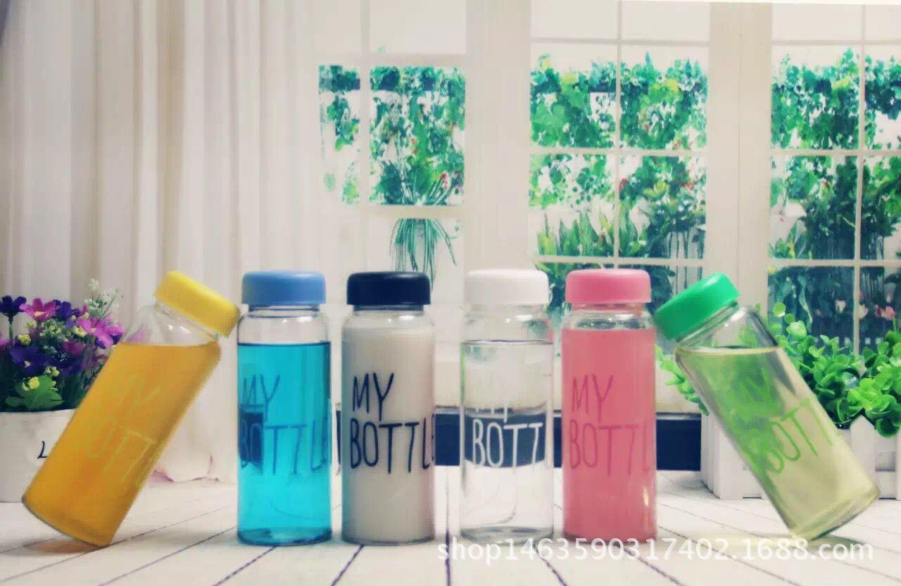 定制 个性 玻璃水杯 广告杯 随手杯 玻璃瓶厂家 礼品 赠品玻璃杯