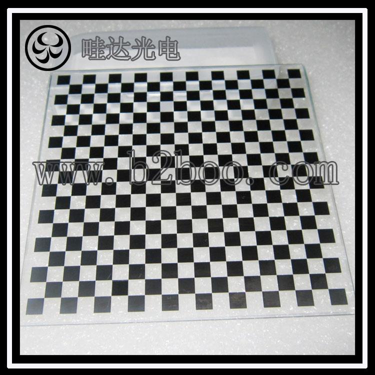相机机器视觉棋盘格标定板100mm陶瓷或者玻璃材料