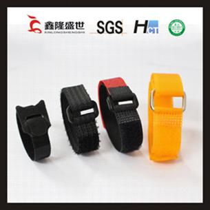 深圳厂家直销 可印字 耐用 双面强力t型尼龙不起毛 带扣魔术贴扎带