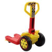 新款儿童电动车叉车蛙式四轮滑板车