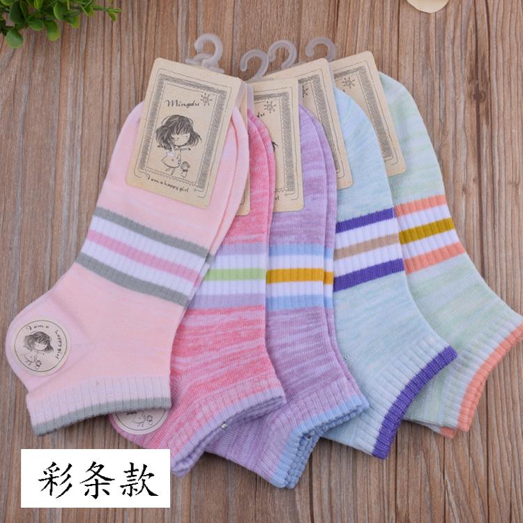 骏腾袜业 纯棉男女船袜尼龙丝钢丝袜儿童袜