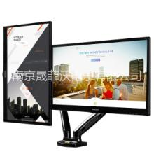 NB F160双屏显示器支架桌面升降旋转挂架液晶电脑底座17-27寸通用 NB F160F160—气弹簧桌 NB F1