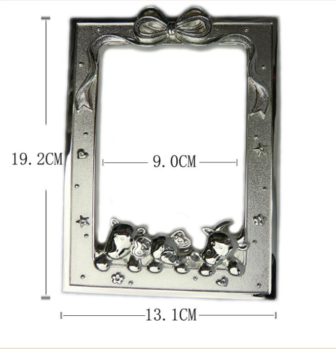 厂家直销定制东莞五金饰品礼品锌合金小熊创意高档出口精品 相框
