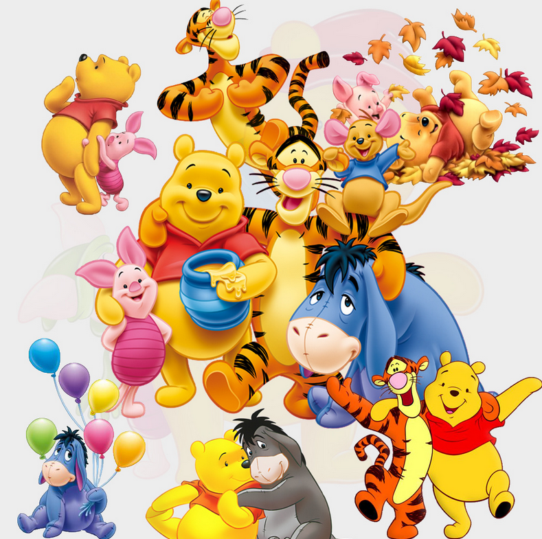 可爱维尼熊跳跳虎墙贴卡通儿童房贴纸墙贴