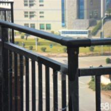 郴州锌钢阳台护栏围栏楼梯扶手百叶窗空调护栏生产与安装图片