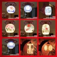 景德镇陶瓷灯具吸顶灯 镂空台灯图片