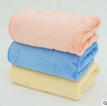广东柏顿超细纤维压花儿童毛巾厂家批发直销纯棉毛巾产地超市货源