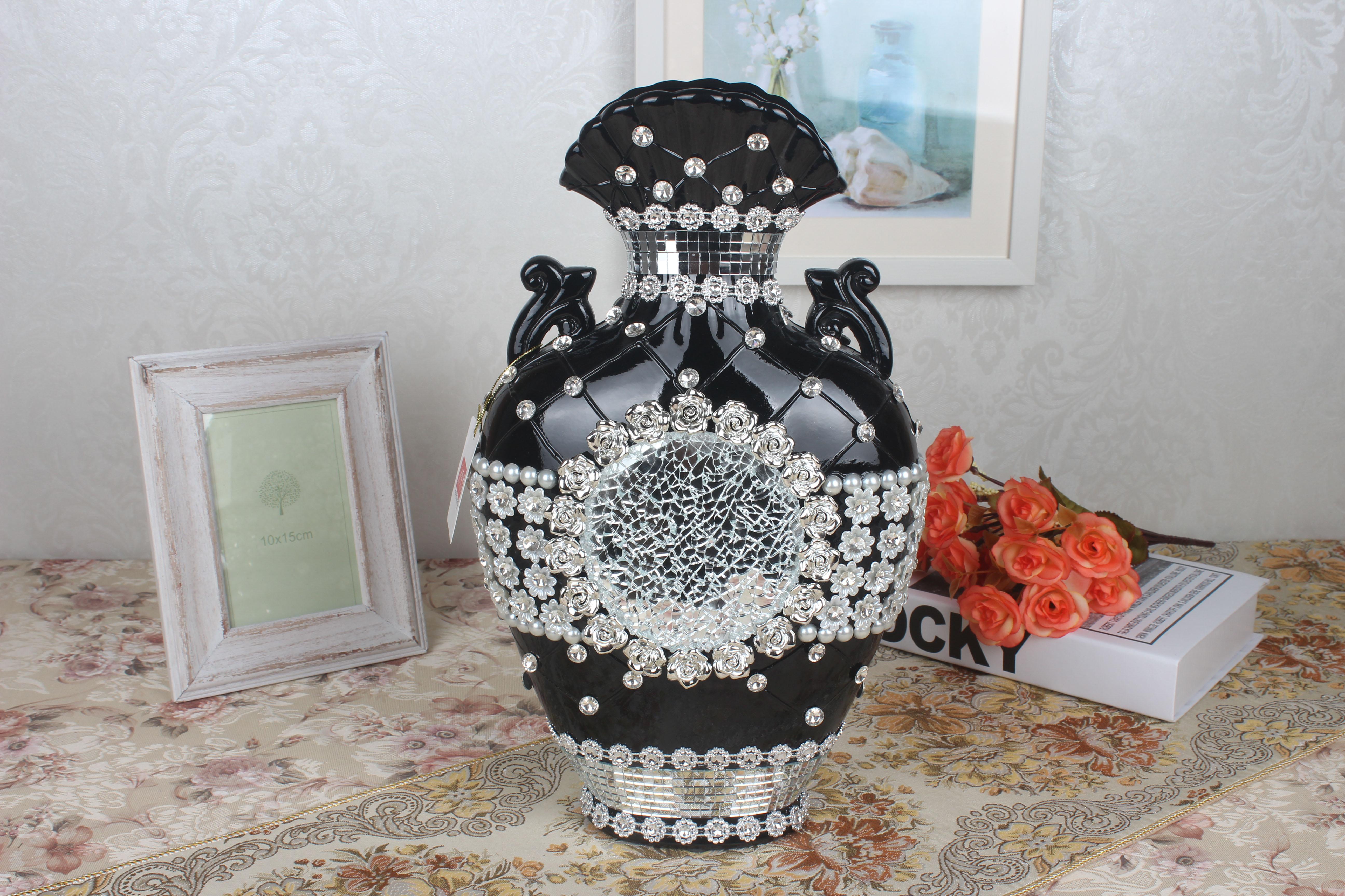 创意欧式家居陶瓷摆件花瓶 潮州厂家批发定制工艺品