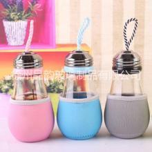 厂家直销定制广告杯创意 灯泡玻璃杯男女学生简约随手杯图片